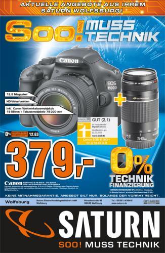Canon EOS 1100 D Kit mit 18-55mm III und 75-300mm III (lokal WOB)