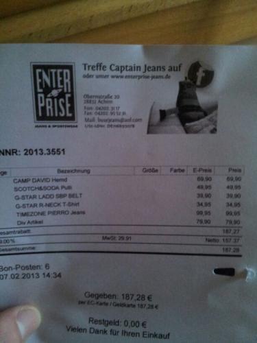 [Lokal (28832) & Offline] 50%-Rabatt wg. Räumung / Camp David Hemden ~35€ / Scotch&Soda Pulli 25€