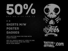 thefers-apparel.com 50% WSV am 9-10 Februar 2013