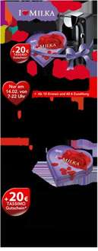 Tassimo Valentinsaktion T20 für 40€ und 10 Kronen inkl. 20€ Gutschein
