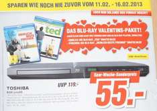 Toshiba BDX1300KE inkl. Blu-ray (Ted oder Ziemlich beste Feunde) - [LOKAL] Gera