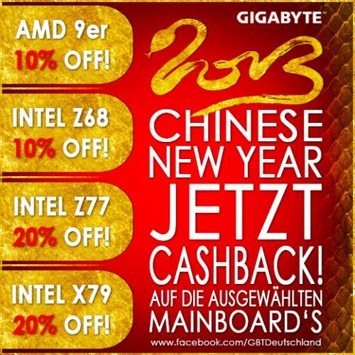 GIGABYTE Mainboard 10% bis 20% CASHBACK!