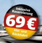 Deutsche Bahn: Hin und zurück für 69 Euro, Familienkinder umsonst, ab 14.02.13