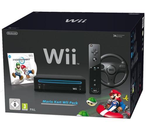 [dealclub.de]Nintendo Wii schwarz + Mario Kart 112,95€