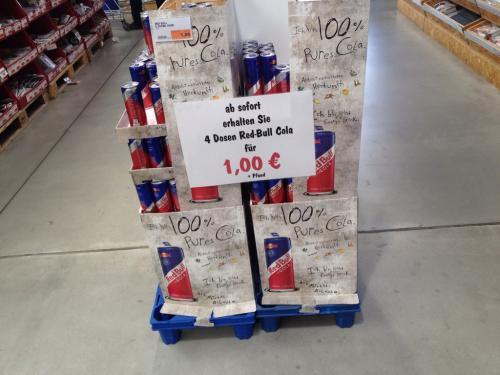 4 Dosen Red Bull Cola (0,33) für 1 Euro (Globus Kornwestheim)
