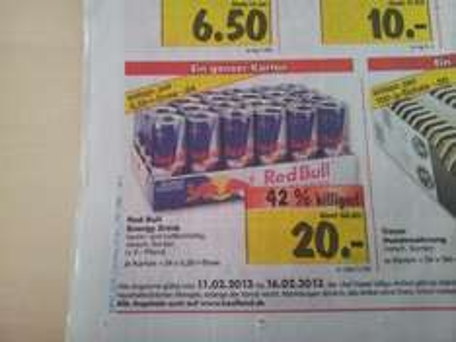 Red Bull 24 Dosen  für 20€; (0,84€ pro Dose) @Kaufland Augsburg und Neckarsulm
