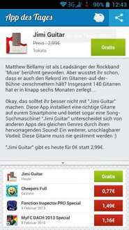 Android app des Tages Jimmi Guitar kostenlos