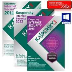 Kaspersky Internet Security 2013 3 PC's Vollversion GreenIT 1 Jahr