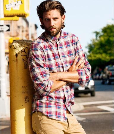 [H&M online] kariertes Freizeithemd - 7,46€ inkl. VSK