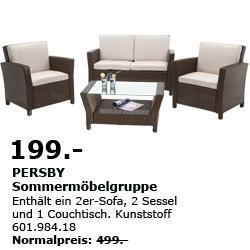 [IKEA Brunnthal] PERSBY Sommermöbelgruppe 199€ statt 499€