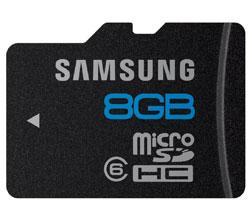 Samsung microSDHC-Karte Essential 8GB Class6 für nur 5,90 EUR inkl. Versand! [5 Jahre Garantie]