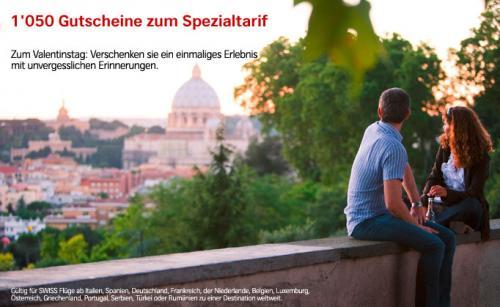 SWISS AIR Gutscheine kaufen mit 15% Rabatt  100€ GS für 85€ usw