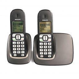 Philips CD1751B Duo Schnurlostelefon schwarz nur 43,95 € statt 59,99 €