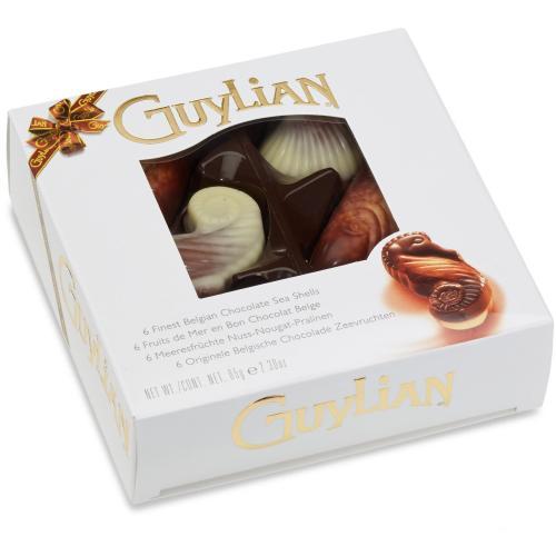 6 Meeresfrüchte-Pralinen der Chocolaterie Guylian (65g) gratis