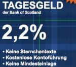 Tagesgeldkonto bei der Bank of Scotland Update