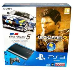 Sony Playstation 3 Super Slim 500 GB inkl.Wireless Controller - Gran Turismo 5 und Uncharted 3 @ Ebay