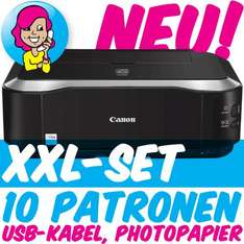 Canon PIXMA iP3600 + 10 PATR0NEN + Fotopapier für nur 74,80 EUR inkl. Versand!