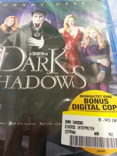 [LOKAL] Dark Shadows Blu-Ray für 8,90€ @MediaMarkt Sindelfingen/Breuningerland