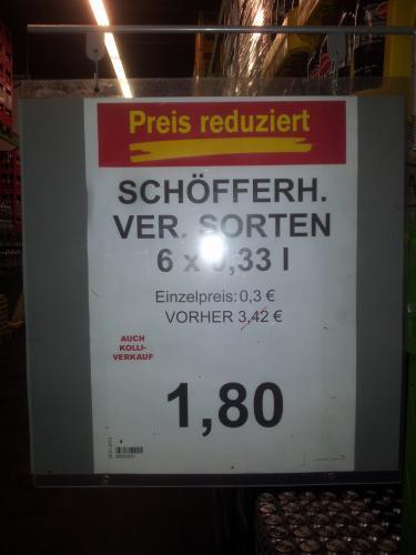 [LOKAL + OFFLINE] Six-Pack 0,33l Schöfferhofer Weizen - verschiedene Sorten bei Fegro/Selgros in Wattenscheid  für 2,14 € +  zzgl. Pfand