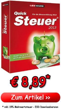 Lexware Taxman 2013 oder Lexware QuickSteuer 2013