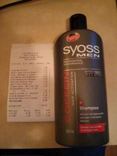 [Lokal: dm-Drogerie Oldenburg, Hundsmühler Straße] Syoss MEN Coffein Hair Activation Shampoo, 500ml für 1,45EUR