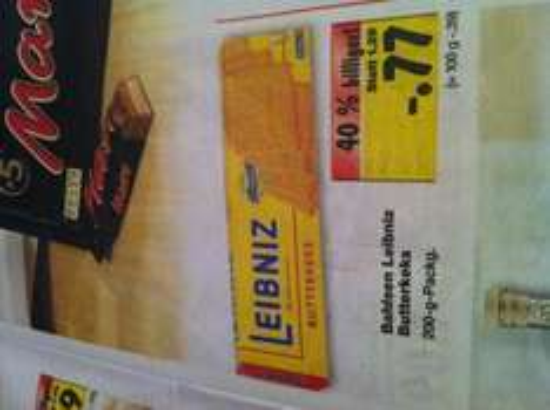 [KAUFLAND - 89584 Ehingen] Leibniz Butterkeks - 200 g - 0,77 €