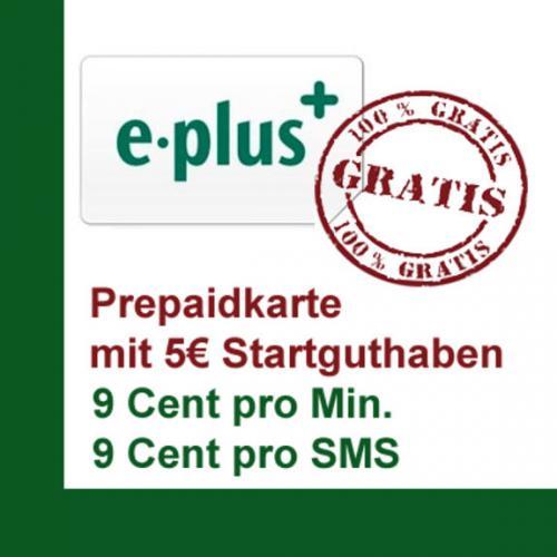 2x E-Plus Prepaidkarten KOSTENLOS 5€ Startguthaben-ausverkauft (weitere Prepaidkarten in den Kommentaren)