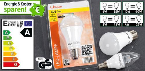 ALDI Süd - LED Leuchtmittel diverse Fassungen ab 6,99