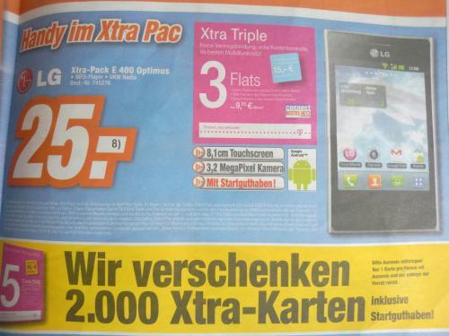 LG Optimus L3 für 25€ + 5€ Telekom Guthaben [Baden Würtemberg]