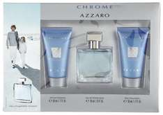 Azzaro Chrome Set (EDT, Shower Gel, After Shave Balsam)