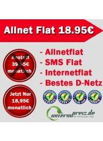 Vodafone Allnetflat - SMS Flat - Internetflat - Anstatt 39.90 nur 18,95€ im Monat!