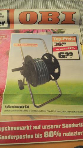 Schlauchwagen-Set für nur 6,99 Euro im Obi Forchheim