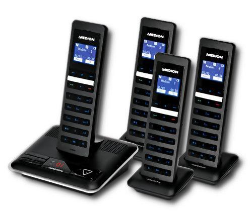 Medion LIFE S63082 DECT Telefon Set mit 4 Mobilteilen für nur 69,90 EUR inkl. Versand!