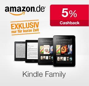 5 % Cashback auf Kindle von Amazon