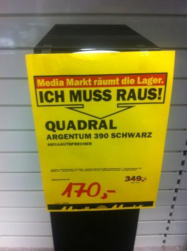 Lautsprecherboxen - Quadral Argentum 390 Schwarz - Lokal Düsseldorf