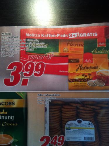 [lokal?] Edeka Lüneburg Melitta Kaffee-Pads für 1€ die Packung [16 Stück]