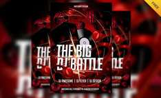 Free DJ Battle Flyer Template kostenlos!