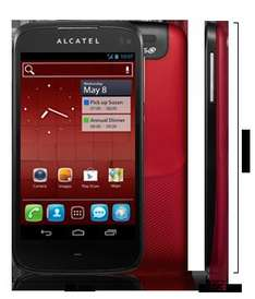 Dualsim Smartphone ALCATEL One Touch 997D dark red inkl. Versand