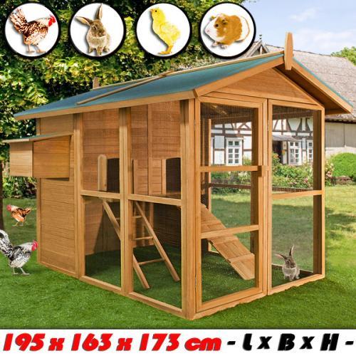 Großer Hühnerstall bzw. Kleintierstall für nur 229,- EUR inkl. Versand!