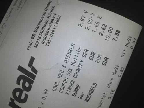 3 Stück Odol Med 3 Zahnpasta für 0,97 € [REAL offline, Bundesweit]