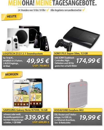 [Mein Paket] Morgen 21.2.: Samsung Galaxy Note N7000 16 GB Ausstellungsstücke schwarz oder weiß