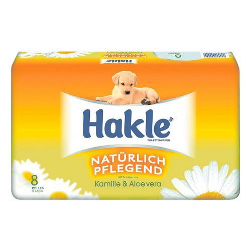Hakle Toilettenpapier  Kamille und Aloe Vera  3-lagig 16 Rollen x 150 Blatt für 2,98€  Thomas Philipps