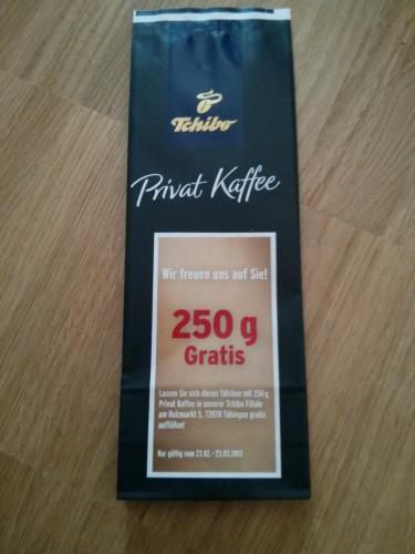 Lokal Tübingen, offline! Tchibo Shop 20% + gratis Kaffee 250g nach Wahl