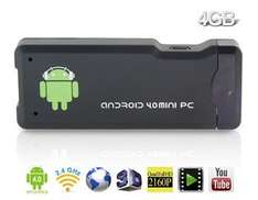 Android 4.0 TV Stick  (1.5GHz / 1 GB Ram / 4GB intern. Speicher / WLAN / Bluetooth) für 31.78€