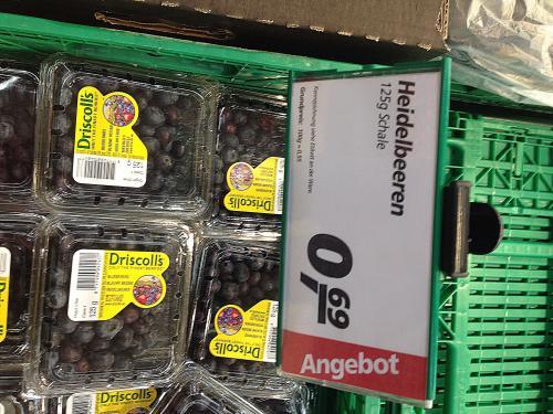 [offline] Heidelbeeren/Blaubeeren 125 gr. für 0,69!