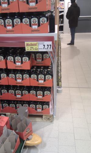 Lokal im Kaufland in HH-Bahrenfeld - Eröffnungsangebote Alkohol und Ritter Sport, ab 0,44€