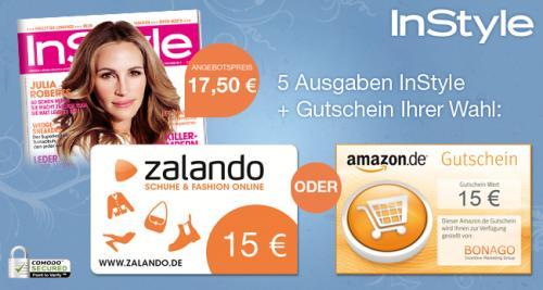 5x Instyle für 17,50€ mit 15€ Amazon