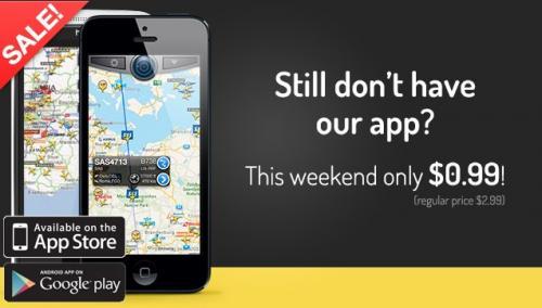 Flightradar24 Pro bei Google Play und im App-Store für 0,89ct