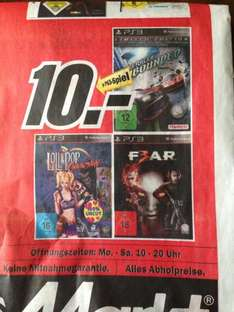 [LOKAL] Media Markt Gründau-Lieblos Lollipop Chainsaw, F.3.A.R., RideRacer Unbounded Limited Edition für jeweils 10 EUR PS3