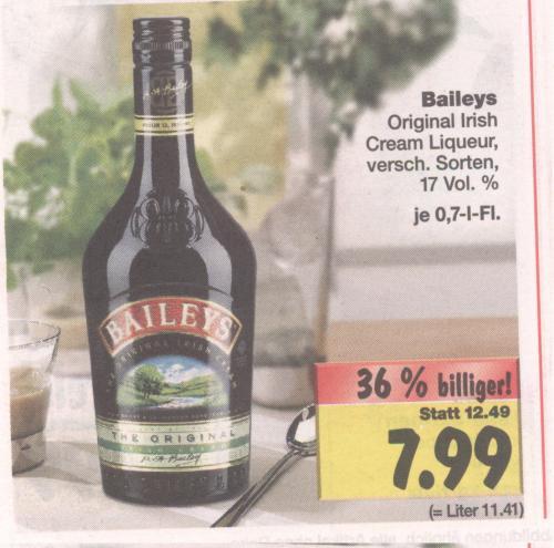 [lokal HH, ab Montag] Kaufland: Baileys (versch. Sorten) 7,99€